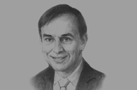 Sketch of <p>Frank Legré, Managing Director for Africa, Air France </p>