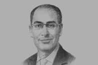 Sketch of <p>Ibrahim Saif, Minister of Planning and International Cooperation (MoPIC)</p>