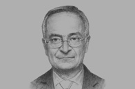 Sketch of <p>Umayya Toukan, Minister of Finance</p>