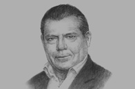 Sketch of <p>Kjeld Binger, CEO, Airport International Group</p>