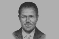 Sketch of <p>Kadré Désiré Ouédraogo, President, Commission of the Economic Community of West Africa States (ECOWAS)</p>