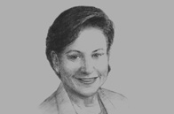 Sketch of <p>Penny Pritzker, US Secretary of Commerce</p>
