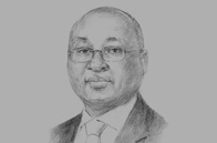 Sketch of <p>Donald Kaberuka, President, African Development Bank</p>