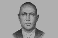 Sketch of <p>Adan Mohamed, Cabinet Secretary, Ministry of Industrialisation and Enterprise Development</p>