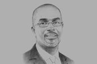 Sketch of <p>Mbuvi Ngunze, CEO, Kenya Airways</p>
