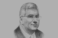 Sketch of <p>Dermot Mannion, Deputy Chairman, Royal Brunei Airlines (RB)</p>