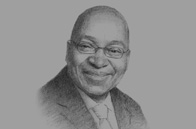Sketch of <p>President Jacob Zuma</p>