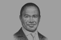 Sketch of <p>Monwabisi Kalawe, CEO, South African Airways (SAA)</p>