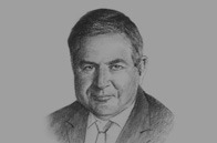Sketch of <p>Robert Walter MP, Chair, UK All-Party Parliamentary Group on Egypt</p>