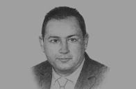 Sketch of <p>Mohamed Omran, CEO, Egyptian Exchange (EGX)</p>