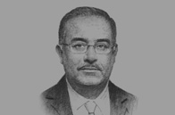 Sketch of <p>Sherif Ismail, Minister of Petroleum and Mineral Resources</p>