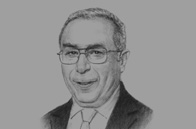 Sketch of <p>Ramtane Lamamra, Minister of Foreign Affairs</p>