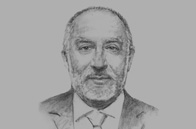 Sketch of <p>Eleodoro Mayorga, Minister of Energy and Mines</p>