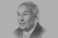 Sketch of <p>Enrique García Rodríguez, Executive President, CAF development bank of Latin America</p>