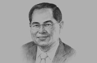 Sketch of <p>Lim Hng Kiang, Singapore Minister for Trade and Industry</p>