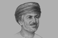 Sketch of <p>Khalid M Al Zubair, Managing Director, The Zubair Corporation, and Chairman, Ominvest</p>