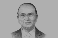 Sketch of <p>President U Thein Sein</p>