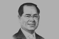 Sketch of <p>Lim Hng Kiang, Minister for Trade and Industry of Singapore</p>