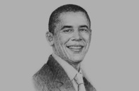 Sketch of <p> Barack Obama, US President</p>
