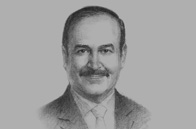 Sketch of <p>Abdul Hussain bin Ali Mirza, Minister of Energy</p>