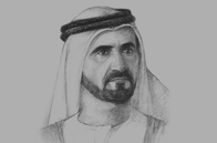 Sketch of <p>Sheikh Mohammed bin Rashid Al Maktoum, Vice-President and Prime Minister of the UAE and Ruler of Dubai</p>