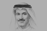 Sketch of <p>Sultan bin Saeed Al Mansoori, UAE Minister of Economy</p>