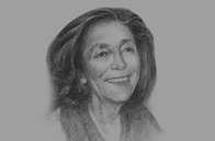 Sketch of <p>Nicole Bricq, Former French Minister of Foreign Trade</p>