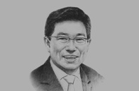 Sketch of <p>Yoon Sang-Jick, Korean Minister of Trade, Industry and Energy</p>