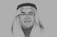 Sketch of <p>Ali Al Naimi, Saudi Minister of Petroleum and Mineral Resources</p>