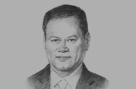 Sketch of <p>Lim Jock Seng, Minister of Foreign Affairs and Trade II of Brunei Darussalam</p>