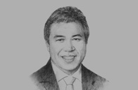 Sketch of <p>Awang Tengah bin Ali Hasan, Minister of Resource Planning and Environment, Minister of Public Utilities and Minister of Industrial Development</p>