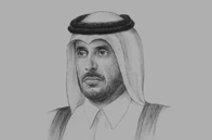 Sketch of <p>Sheikh Abdullah bin Nasser bin Khalifa Al Thani, Prime Minister and Minister of Interior</p>
