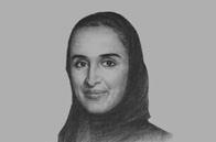 Sketch of <p>Sheikha Hind bint Hamad Al Thani, Vice-Chairperson, Qatar Foundation, and Vice-Chairperson, Supreme Education Council</p>
