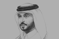 Sketch of <p>Eisa bin Saad Al Nuaimi, Minister of Administrative Development </p>