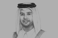 Sketch of <p>Sheikh Ahmed bin Jassim bin Mohamed Al Thani, Minister of Economy and Commerce</p>