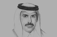 Sketch of <p> Sheikh Abdulla bin Saoud Al Thani, Governor, Qatar Central Bank (QCB) </p>