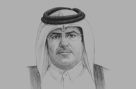 Sketch of <p>Ahmed bin Amer Al Humaidi, Minister of Environment</p>