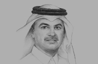 Sketch of <p>Nasser bin Ali Al Mawlawi, President, Ashghal (the Public Works Authority)</p>