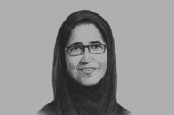 Sketch of <p>Hessa Sultan Al Jaber, Minister of Information and Communications Technology</p>