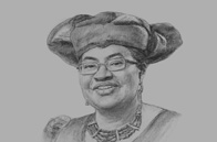 Sketch of <p> OBG talks to Ngozi Okonjo-Iweala, Coordinating Minister of the Economy and Minister of Finance </p>