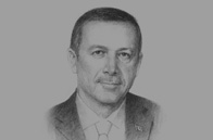 Sketch of <p>A new journey: President Recep Tayyip Erdoğan, on his country's economic rise</p>