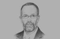 Sketch of <p>OBG talks to Irwin LaRocque, Secretary-General, CARICOM</p>