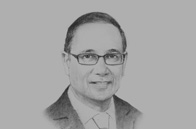 Sketch of <p>OBG talks to Larry Howai, Minister of Finance and the Economy</p>