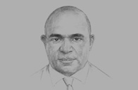 Sketch of <p>Wapu Sonk, Managing Director, National Petroleum Company</p>