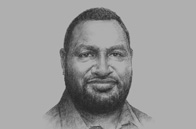 Sketch of <p>James Marape, Minister of Finance, Papua New Guinea</p>