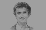 Sketch of <p>Jack Lang, Former French Minister of Culture; and President, the Arab World Institute (AWI)</p>
