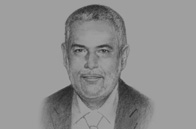 Sketch of <p>Abdel-Ilah Benkiran, Head of Government</p>