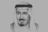 Sketch of <p>King Salman bin Abdulaziz Al Saud, Custodian of the Two Holy Mosques</p>