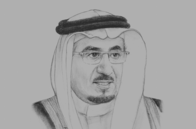 Sketch of <p> Mofarrej Al Haqbani, Minister of Labour</p>