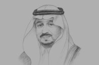 Sketch of <p> Prince Faisal bin Bandar bin Abdulaziz Al Saud, Governor, Riyadh Region, and Chairman, Arriyadh Development Authority (ADA) </p>